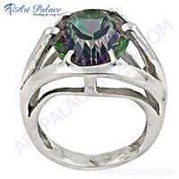 Lovely mistyque topaz Sterling Silver Ring
