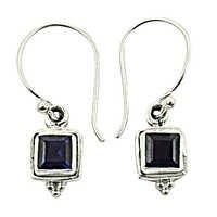 Graceful Glamours Iolite Gemstone Silver Earrings