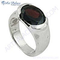 Cute Garnet 925 Sterling Silver Ring