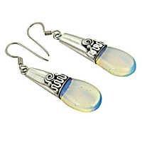 Party Wear Designer Silver Gemstone Earrings