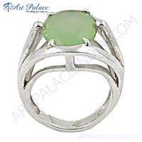 Newest Style Prenite SilverGemstone Ring