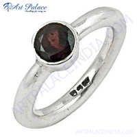 Lovely Garnet Sterling Silver Ring