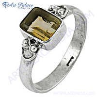 Top Quality Citrine Silver Ring