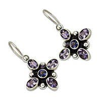 Amethyst Gemstone Silver Earring Jewelellry