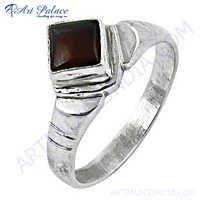 Fastival Gemstone Garnet  Silver Ring