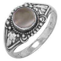 Indian Designer Moonstone Gemstone Silver Ring