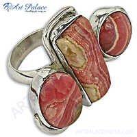Designer Rhodochrosite Rodecrosid Rodecrosid Silver Ring