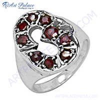Excellent New Silver Garnet  Ring