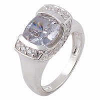 Sensational White Cubic Zirconia Silver Ring