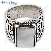 Amazing Motherofpearl  925 Silver Ring