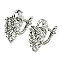 Famous Design Cz Gemstone Silver Earrings