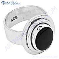 Cute Amethyst  Silver Ring