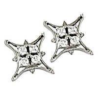 Romantic Cz Gemstone Silver Earrings