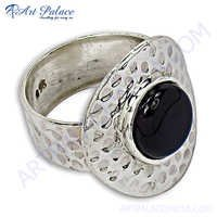 Hot Sale Silver Ring With Black Onyx