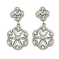 High Quality Cubic Zirconia Gemstone Silver Earrings
