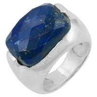 New Fashionable Oval Lapis Lazuli Gemstone Silver Ring