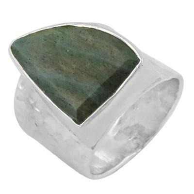 Exclusive Labradorite Gemstone Silver Ring