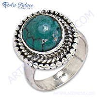 Cool Turquoise  Silver Ring