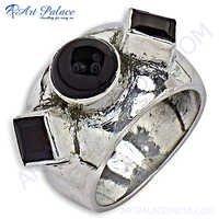 Unique Garnet 925 Sterling Silver Ring