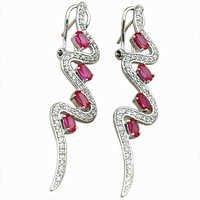 Elegant Fancy 925 Sterling Silver Earrings