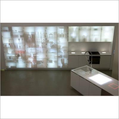 Custom Back Lit Cabinets