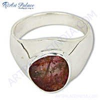 Hot Selling Tourmaline  Gemstone Silver Ring