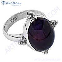 Popular Design Amethyst Silver Gemstones Ring
