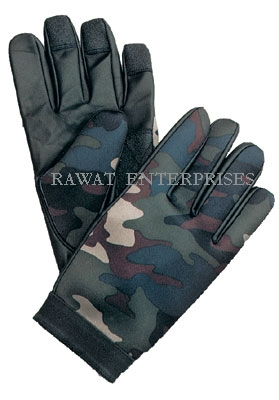 Leather Fabric Gloves