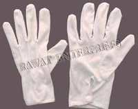 White Cotton  Gloves