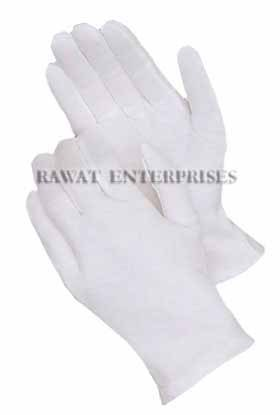 White Poyester Gloves