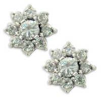 Exclusive Cubic Zirconia Silver Gemstone Earrings