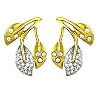 Pretty Cheap Leaf Earrings With Gold Plated