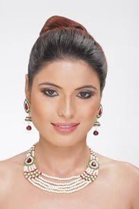 pearl fashion jewelry setsfashion hoop earrings necklace set