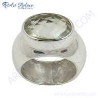 New Antique Crystal Silver Ring