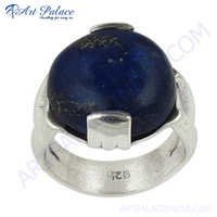 Valuable 925 Sterling Lapis Lazuli Silver Ring
