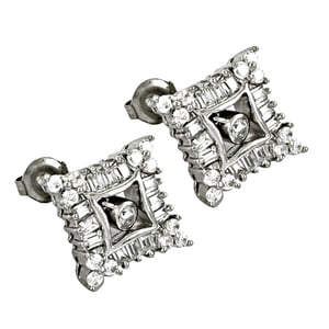 Valuable 925 Sterling Silver Earrings With Stud