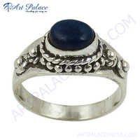 Top Quality Silver Lapis Lazuli Gemstone Ring