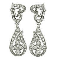 Wholesale Sterling Silver Luxurious CZ Wedding Earrings