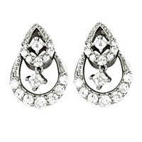High Quality Fashion Jewelry 925 Sterling Silver CZ Earrings