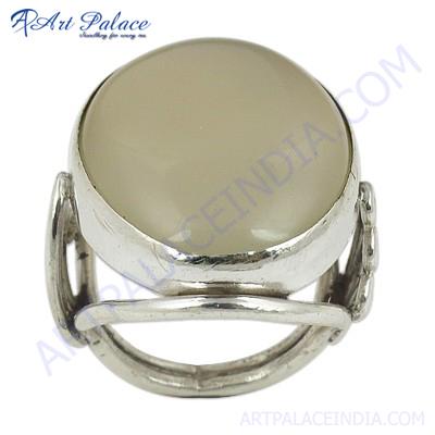 Top Quality Silver Chalci Gemstone Ring