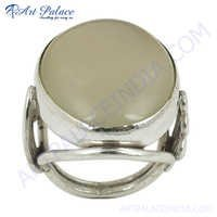 Top Quality Silver Chalci Gemstone Ring