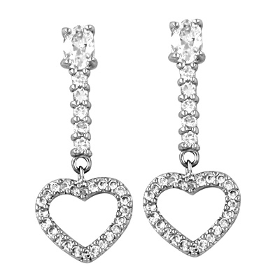Imitation 925 Silver Jewelry Of Fashion CZ Earrings