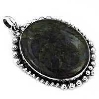 Celeb Style Labradorite Gemstone Silver Pendant