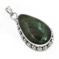 Designer Labradorite Gemstone Silver Pendant