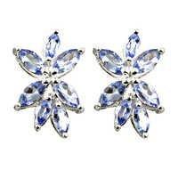 Hot Blue 925 Sterling Silver Earrings