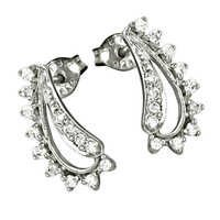 High Quality Handmade Cz Gemstone Silver Earrings