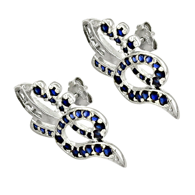 Classic Iolite Sterling Silver Gemstone Earring