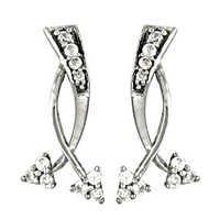 Simplicity Cubic Zirconia Gemstone Silver Earrings
