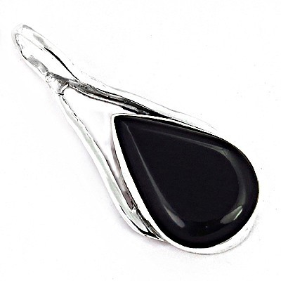 New Arrival Black Onyx Gemstone SIlver Pendant