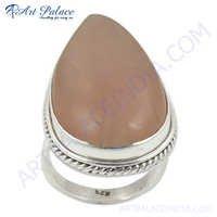 Quality  Rose Quartz Gemstone Sterling Silver Ring
